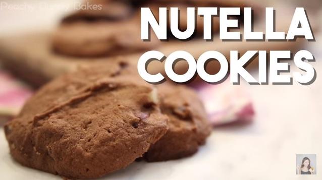 Soft-baked Nutella Cookies⎜朱古力榛子醬曲奇餅