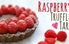 4-Ingredient Raspberry Truffle Tart ⎜紅莓朱古力撻